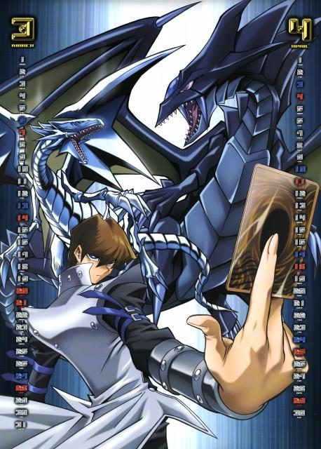 Kazuki Takahashi, Studio Gallop, Yu-Gi-Oh Duel Monsters, Yu-Gi-Oh 2004 Calendar, Blue-Eyes White Dragon