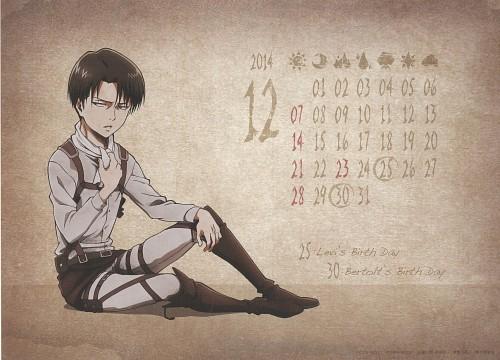 Hajime Isayama, Production I.G, Shingeki no Kyojin, Shingeki no Kyojin School Calendar 2014, Levi Ackerman