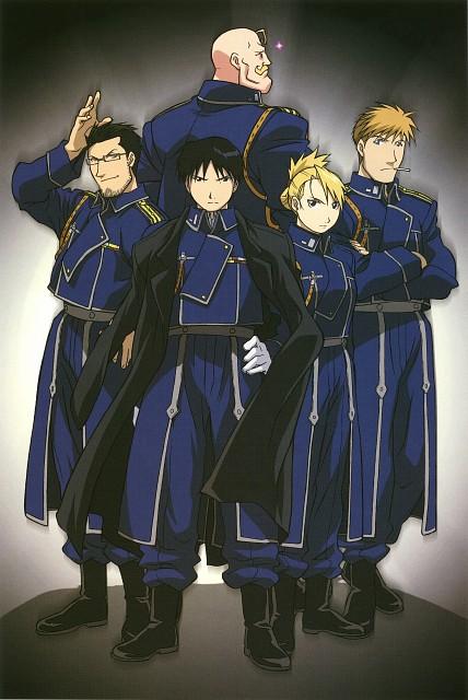 Hiromu Arakawa, BONES, Fullmetal Alchemist, Roy Mustang, Alex Louis Armstrong