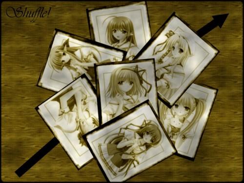 Hiro Suzuhira, Shuffle!, Kaede Fuyou, Asa Shigure, Ama Shigure Wallpaper