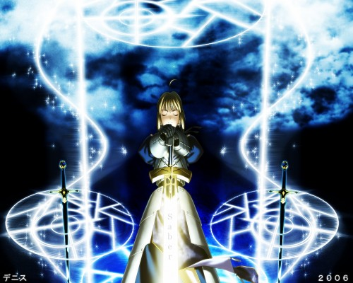 TYPE-MOON, Fate/stay night, Saber, Magic Wallpaper