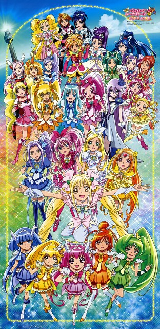 Toei Animation, Precure All Stars, Cure Peach, Cure Lemonade, Cure Melody