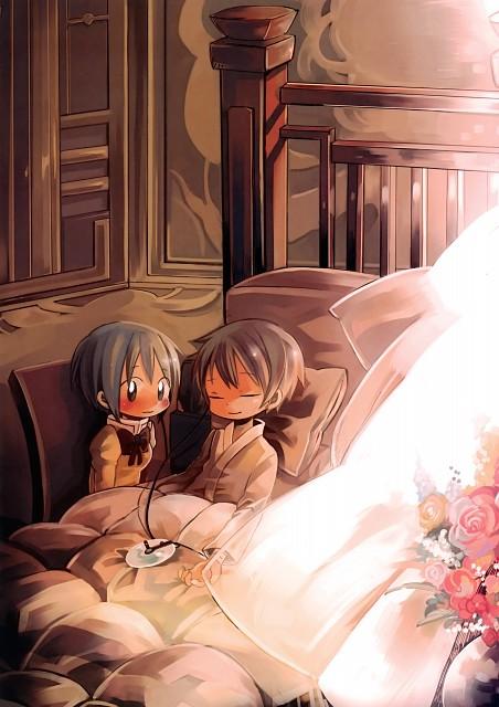 Mei Aota, Puella Magi Madoka Magica, Puella Magi Madoka Magica The Illustrated Book, Kyousuke Kamijou, Sayaka Miki