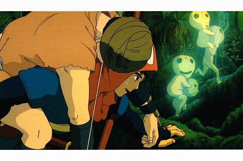 Studio Ghibli, Princess Mononoke, Princess Mononoke Postcard Collection, Kodama, Ashitaka