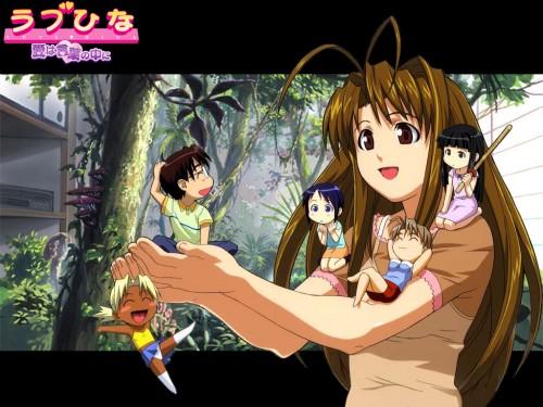 Ken Akamatsu, Love Hina, Shinobu Maehara, Kaolla Su, Keitaro Urashima Wallpaper
