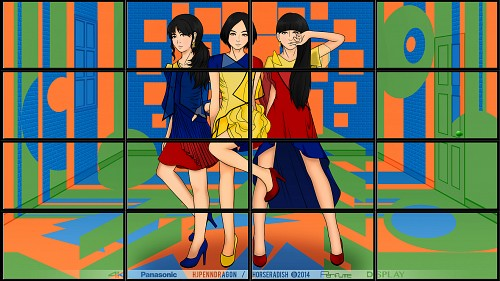Perfume, Nocchi (J-Pop Idol), Kashiyuka, A-chan, Vector Art Wallpaper