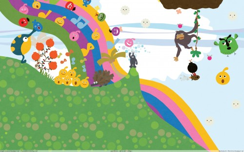 LocoRoco, Vector Art Wallpaper