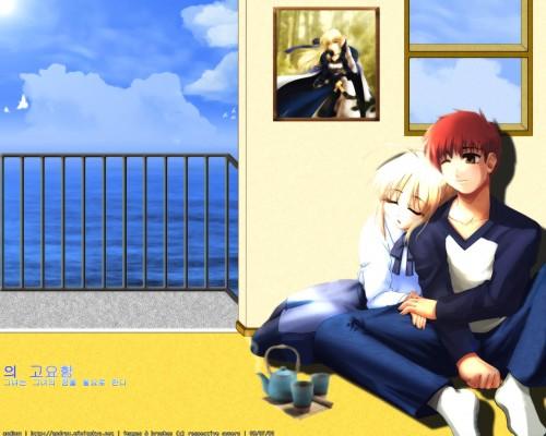 TYPE-MOON, Fate/stay night, Shiro Emiya, Saber Wallpaper