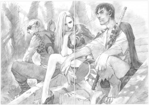 Hiroaki Samura, Blade of the Immortal, BotI Illustration Collection, Giichi, Shira
