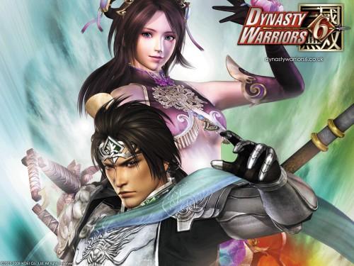 Koei, Dynasty Warriors, Diao Chan, Zhao Yun, Official Wallpaper