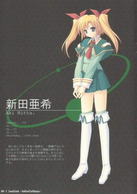 Hiro Suzuhira, Navel (Studio), Soul Link, Aki Nitta, Character Sheet