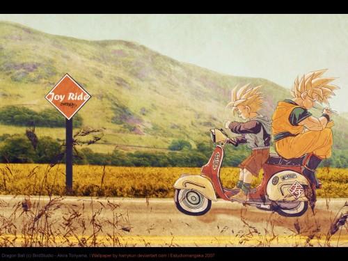 Akira Toriyama, Toei Animation, Dragon Ball, Super Saiyan Goku, Super Saiyan Gohan Wallpaper