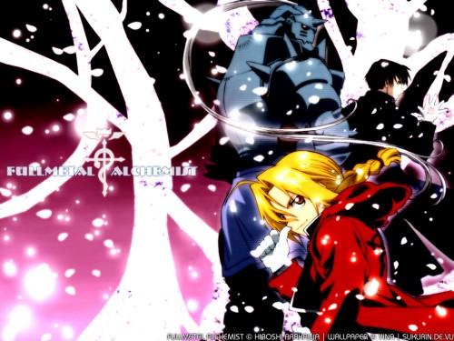 Hiromu Arakawa, BONES, Fullmetal Alchemist, Roy Mustang, Alphonse Elric Wallpaper