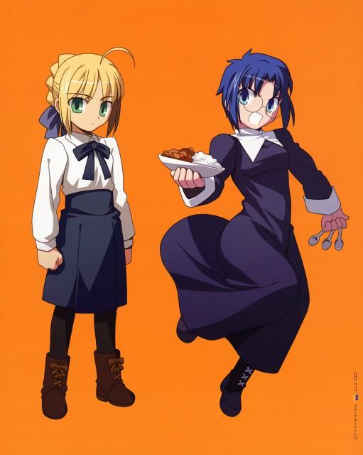 TYPE-MOON, Type-MOON Comic Illust Book, Fate/stay night, Shingetsutan Tsukihime, Ciel (Shingetsutan Tsukihime)