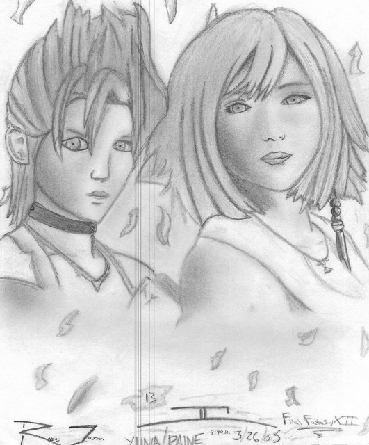 Square Enix, Final Fantasy X-2, Paine, Yuna, Member Art