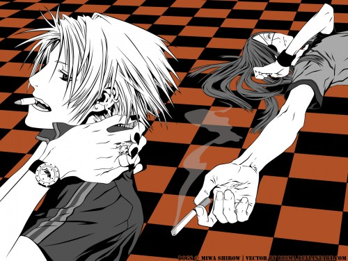 Miwa Shirow, Dogs: Bullets and Carnage, Haine Rammsteiner, Badou Nails, Vector Art Wallpaper