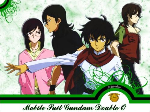 Sunrise (Studio), Mobile Suit Gundam 00, Setsuna F. Seiei, Lockon Stratos, Allelujah Haptism Wallpaper