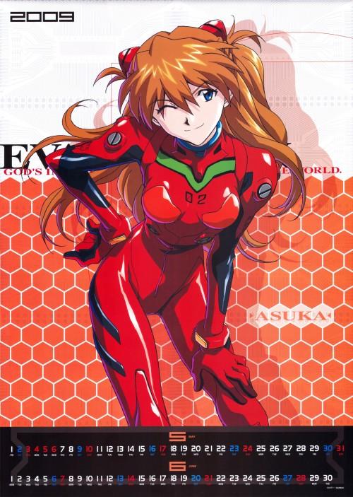 Yoshiyuki Sadamoto, Gainax, Neon Genesis Evangelion, Evangelion 2009 Calendar, Asuka Langley Soryu