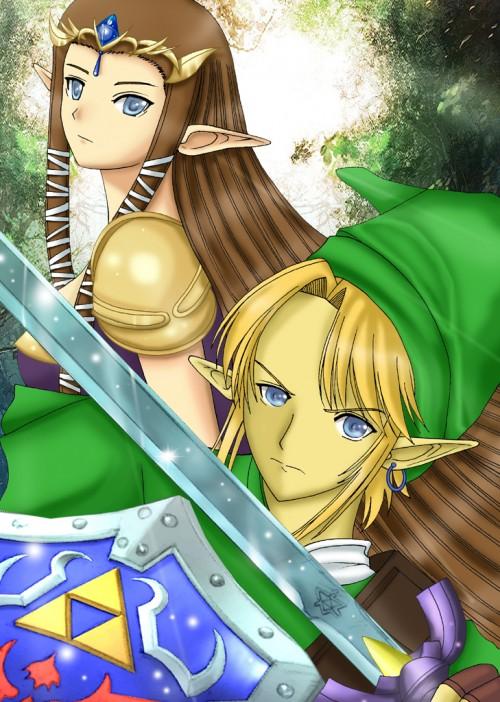 The Legend of Zelda, Zelda, Link, Member Art