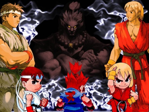 Capcom, Street Fighter, Akuma (Street Fighter), Ken Masters, Ryu Wallpaper