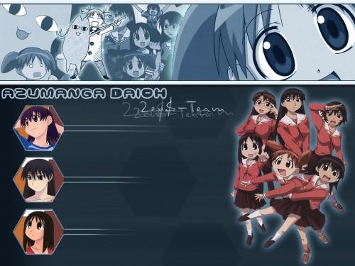 Kiyohiko Azuma, J.C. Staff, Azumanga Daioh, Sakaki, Ayumu Kasuga (Azumanga Daioh) Wallpaper