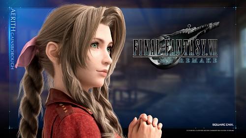Square Enix, Final Fantasy VII, Aerith Gainsborough, Official Wallpaper