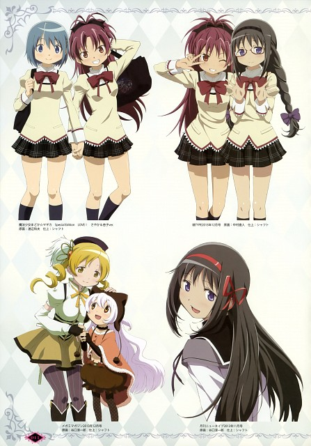 Shaft (Studio), Puella Magi Madoka Magica, Kyoko Sakura, Sayaka Miki, Mami Tomoe