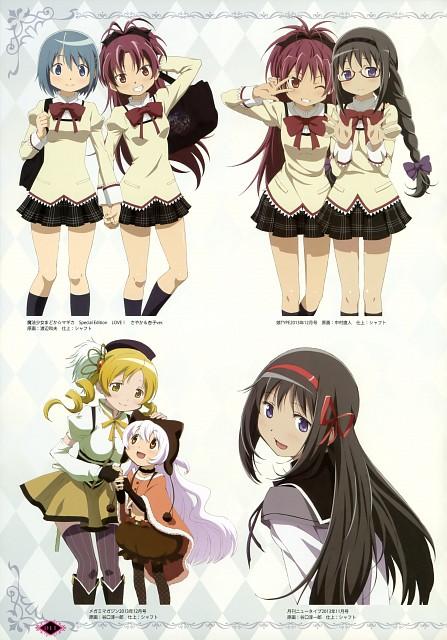 Shaft (Studio), Puella Magi Madoka Magica, Homura Akemi, Kyouko Sakura, Sayaka Miki