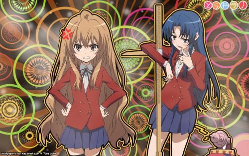 Yasu, J.C. Staff, Toradora!, Ami Kawashima, Taiga Aisaka Wallpaper