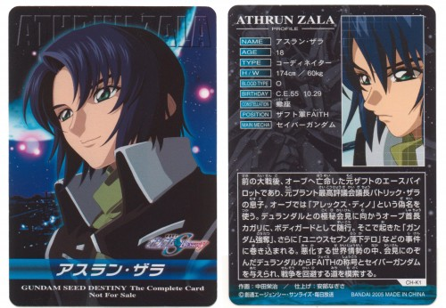 Hisashi Hirai, Sunrise (Studio), Mobile Suit Gundam SEED Destiny, Athrun Zala