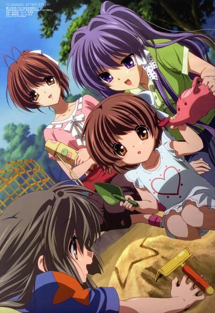Clannad, Fuko Ibuki, Ushio Okazaki, Nagisa Furukawa, Kyou Fujibayashi