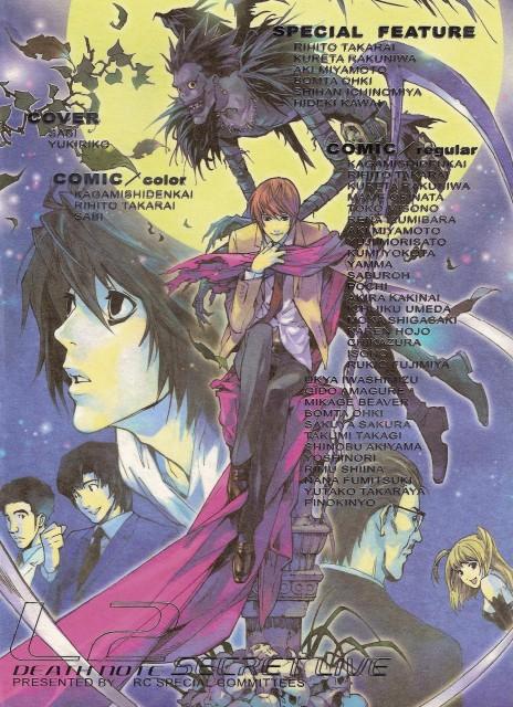 Death Note, L, Shuichi Aizawa, Ryuk, Soichiro Yagami