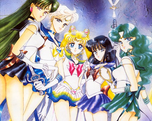 Naoko Takeuchi, Bishoujo Senshi Sailor Moon, BSSM Original Picture Collection Vol. III, Sailor Saturn, Sailor Neptune Wallpaper