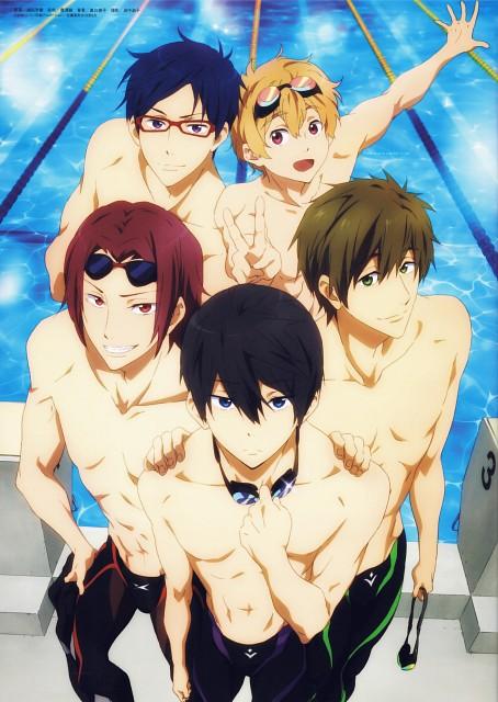 Urata Yoshinori, Kyoto Animation, Free!, Haruka Nanase (Free!), Rei Ryuugazaki