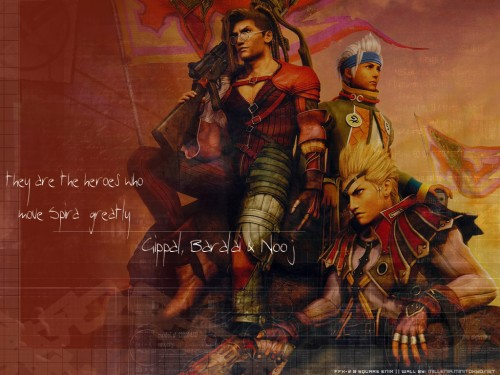 Square Enix, Final Fantasy X-2, Nooj, Baralai, Gippal Wallpaper