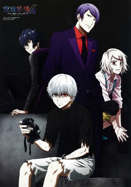 Tokyo Ghoul, Ayato Kirishima, Jyuzo Suzuya, Shu Tsukiyama, Ken Kaneki