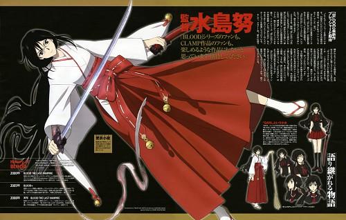 Production I.G, BLOOD-C, Saya Kisaragi, Newtype Magazine, Magazine Page