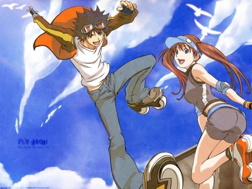 Oh! Great, Toei Animation, Air Gear, Itsuki Minami, Ringo Noyamano Wallpaper