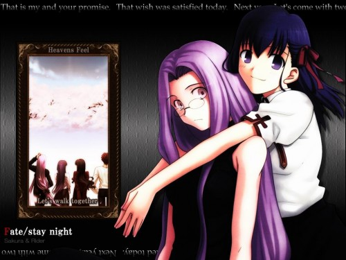 TYPE-MOON, Fate/stay night, Rider (Fate/stay night), Sakura Matou Wallpaper