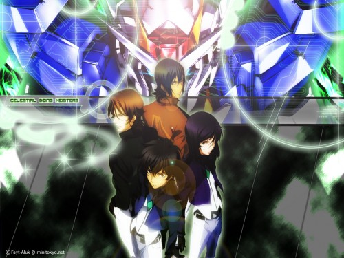 Sunrise (Studio), Mobile Suit Gundam 00, Lockon Stratos, Allelujah Haptism, Tieria Erde Wallpaper