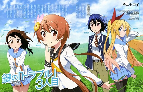 Akihisa Takano, Nisekoi, Chitoge Kirisaki, Marika Tachibana, Kosaki Onodera