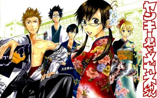 Miki Yoshikawa, Yankee-kun to Megane-chan, Gaku Izumi, Hana Adachi, Daichi Shinagawa
