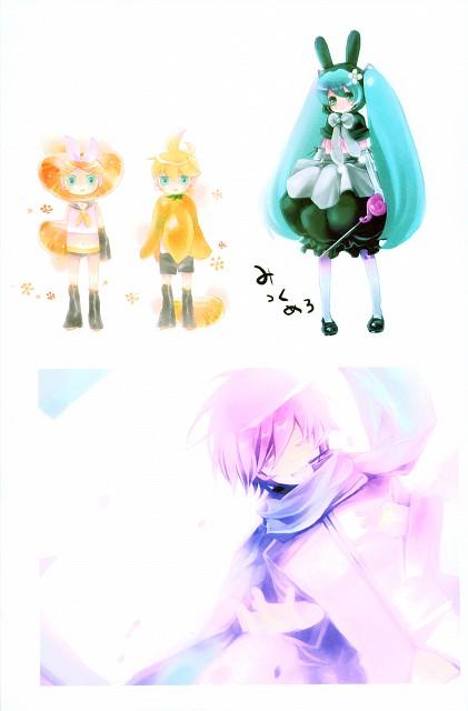 Shimeko, Landmark (Artbook), Vocaloid, Kaito, Len Kagamine