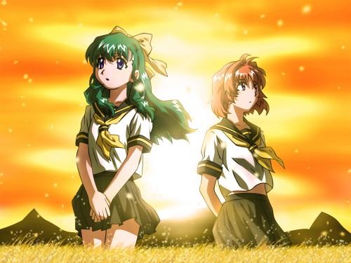 Onegai Twins, Miina Miyafuji, Karen Onodera Wallpaper