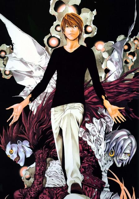 Takeshi Obata, Death Note, Blanc et Noir, Ryuk, Rem
