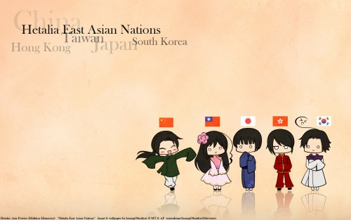 Hidekaz Himaruya, Studio DEEN, Hetalia: Axis Powers, China, South Korea Wallpaper