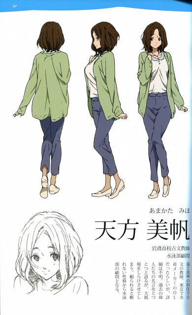 Kyoto Animation, Free!, Free! TV Animation Guide Book, Miho Amakata, Character Sheet