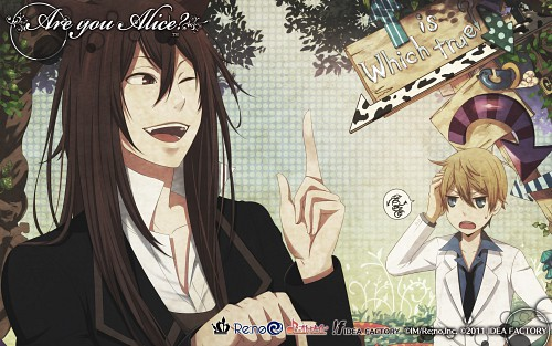 Idea Factory, Are You Alice, Cheshire Cat (Are You Alice), Alice (Are You Alice), Official Wallpaper