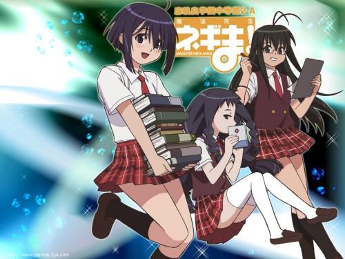 Ken Akamatsu, Mahou Sensei Negima!, Haruna Saotome, Yue Ayase, Nodoka Miyazaki Wallpaper