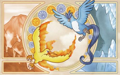 Pokémon, Moltres, Articuno Wallpaper